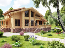Eco-friendly pool house wooden house