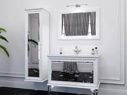 Bath set Amande white black